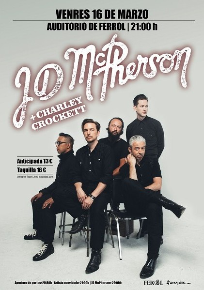 JD McPherson + Charley Crockett : Concerto en Ferrol